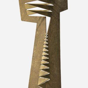 Sin título, 2000. Metal y madera, 51 x 29 x 25 cm.