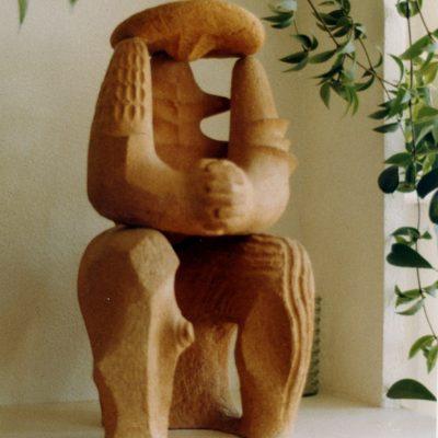El Agricultor, 1987. Terracota, 70 x 35 cm.